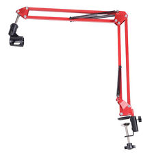 New Adjustable Desktop Microphone MIC Suspension Boom Scissor Arm Stand Red