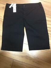 LADIES LACOSTE BLACK SHORTS.30