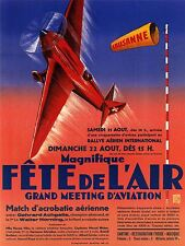 ADVERTISING EXHIBITION AVIATION PLANE FLY LAUSANNE ART POSTER PRINT LV747