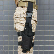 Adjustable Black Tactical Military Army Pistol Gun Drop Leg Thigh Holster Pouch
