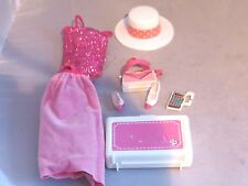 Vintage Mattel Barbie Day to Night accessories - case, hat, purse, skirt, shoes