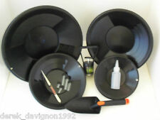 INTERNATIONAL Black Gold Pan Panning Kit ! Pans Magnet, Vials, Sniffer, & More!