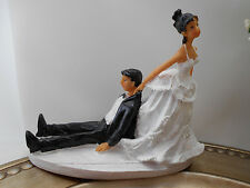 FUNNY Wedding Cake Topper African American / Ethnic or Hispanic or Interracial