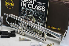 Bach Stradivarius Trumpet 72 * Lightweight Bb Professional Horn with Accesoryes