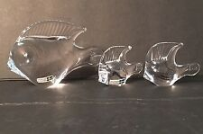 Set of 3 Art Glass Fish Figurines Made in Sweden