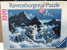 1000 Piece BED OF CLOUDS White Tiger Cub Jigsaw Puzzle Ravensburger Unopened Bag