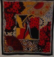 Foulard carré en soie authentique silk scarf sciarpa di seta PASION DE ESPANA