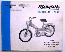 MOBYLETTE SERIES 40 & N40 - Moped Spares List - Feb 1972 - #1700 ex 71 09 20