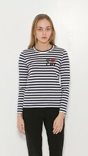 NWT Comme Des Garcons Play Striped Long Sleeve 100% Authentic Size M