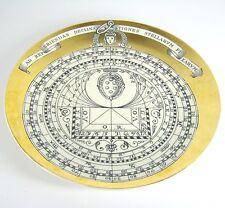 Piero FORNASETTI porcellana piatto piatti di Natale 1966 Milano Astrolabio ITALY