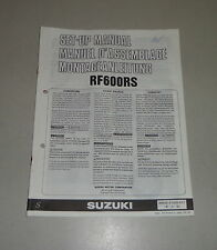 Montageanleitung / Set Up Manual Suzuki RF 600 R  Stand 09/1994