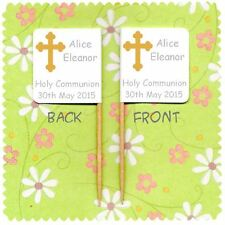 20 PERSONALISED HOLY COMMUNION CONFIRMATION CUP CAKE FLAG Party Pick Food Topper