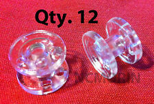 Qty 12 pieces RV Pleated Shade Hold Down Spools - Tensioner - Clear
