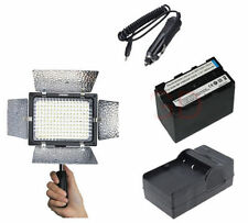YONGNUO YN-160 LED Video Light+ NP-F970 + Charger  for Canon Nikon Pentax Camera