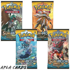4X POKEMON SUN & MOON SEALED BOOSTER PACKS SUN AND MOON SM1 - 11 CARDS PER PACK