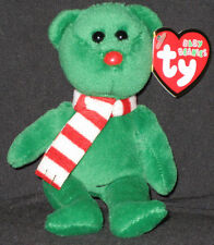 TY WINDCHILL the GREEN BEAR JINGLE BEANIE BABY - MINT with MINT TAGS