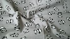 Soft Flannel Summer Baby Swaddle Blanket/ Muslin Square Pandas Grey 70x80