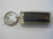 "BRENDA Key Chain Solar 2.5""x1  Blinks NOS"