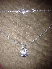 """Tibetan Silver Sanrio Hello Kitty Pendant & 16"""" Hexagonal Necklace"""