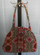 Vera Bradley Folkloric Eloise  Metal Center Clasp  Red Pink Green MSRP $74