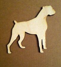 X3 Lasercut Wooden Boxer Dog Shapes, Crafts