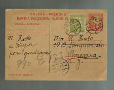 1927 Woepa Poland Yiddish Postcard cover to USA Judaica