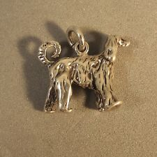.925 Sterling Silver 3-D AFGAN CHARM NEW Dog Puppy Pet Breed Pendant 925 DG34