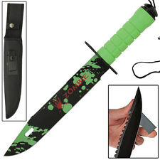 Zombie Killer Outdoor Hunting Knife with FREE sharpening Stone and Survival Kit