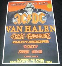 AC/DC-Monsters Of Rock Donington Park UK August 18th 1984 concert poster