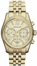 NEW MICHAEL KORS MK5556 LADIES GOLD LEXINGTON WATCH - 2 YEAR WARRANTY
