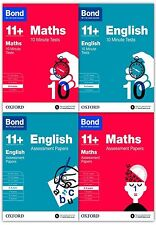 Bond 11+ English & Maths 4 Books Set Ages 8-9  Inc Assessment and Tests