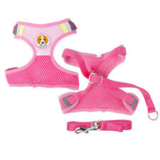 Soft Mesh Dog Puppy Harness and Lead Leash for Small Dog Yorkie Chihuahua Poodle