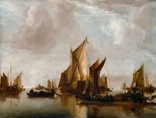 A State Yacht and Other Craft Jan van de Cappelle Old Masters 8x10 Art Print