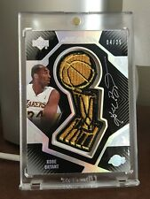 2007-08 UD Black Trophy Autographs Kobe Bryant /25 - NOTE CONDITION COMMENTS