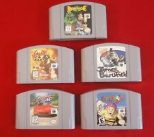 Nintendo 64 Games (5)Clay Fighter 63 1/3 Blast Corp Rampage Paperboy Cruisin USA