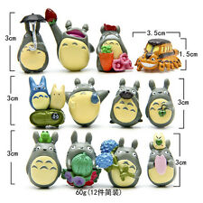 12pcs Hayao Miyazaki Japan Cartoon My Neighbor Totoro Figures Toy Gift Collect