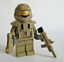 Lego Custom HALO ODST Minifigure Shock Trooper SMG Pistol -Dark Tan-