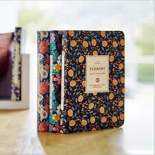 """Flowery Planner"" 1pc Luxury Hard Cover Planner Diary Notebook Free Note Agenda"