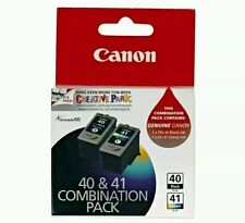 Canon Genuine PG-40+CL-41 Twin Combination Pack, 1X PG40 Black Ink Cartridge 1X