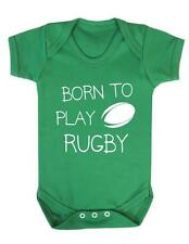 "Baby Grow ""Born to play Rugby "" Rugby / Sport Baby Play suit / Bodysuit"