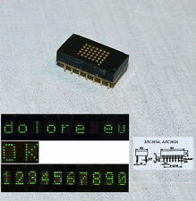 6 x Matrix LED green mini display Indicator 3LS363A Rare USSR