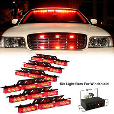 Red 54 LED Emergency Hazard Car Truck Vehicle Police Grill Strobe Lights Bars