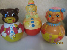 VTG LOT OF 3~ 1972 FIRST YEARS -CLOWN & BEAR & 1977 SANITOY CLOWN  ROLY POLY