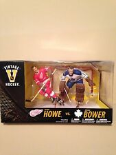 Mcfarlane NHL 2PK Gordie Howe vs Johnny Bower Maple Leafs Vs Red wings figures.