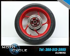 15 2015 TRIUMPH STREET TRIPLE R X RX 675R REAR WHEEL RIM TIRE ROTOR SPROCKET T10