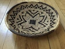 Beautiful African Hand-Woven INTRICATE DESIGN BASKET Nice - 12 in diameter