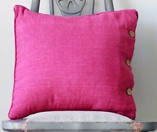 Cushion Cover Fuschia Pink Euro Cotton Large 60x60 Throw Daybed Sofa Pillow Case