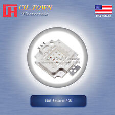 1Pcs 10W Watt High Power 4Pin Square RGB Common Anode SMD LED Blub Lamp Chip