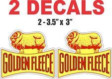 2 Golden Fleece Vinyl Decals