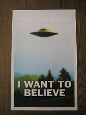 "The X-Files - I Want To Believe UFO  Poster 11"" X 17"""